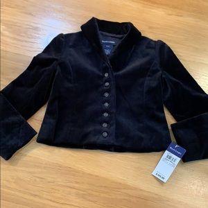 Ralph Lauren Black Velvet Dress Jacket ~ Fancy ~S4